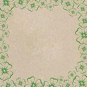 Frame Of Clover Leaves