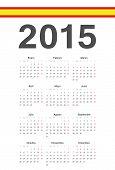 Spanish 2015 Year Vector Calendar