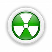 picture of radium  - Round plastic icon with white design on green background - JPG