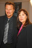 Greg Evigan and Pamela Serpe  at the Memorial Service honoring the life of Ed McMahon. Leonard H. Go