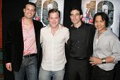 B.P. Cooper and James DeBello with Aaron Michael Metchik and Johnny Asuncion at the Los Angeles Sneak Peek Screening of 'Ten Years Later'. Majestic Crest Theatre, Los Angeles, CA. 07-16-09