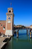 stock photo of arsenal  - View of the Arsenale in Venice Italy - JPG