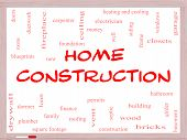 Home Construction Word Cloud Concept On A Whiteboard