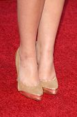 Chelsea Staub's shoes at the Los Angeles Premiere of 'Bandslam'. Mann Village Theatre, Westwood, CA. 08-06-09