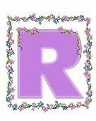 Alphabet Daisy Fair Lilac R