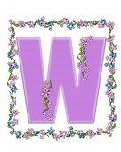 Alphabet Daisy Fair Lilac W
