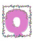 Alphabet Daisy Fair Pink Q