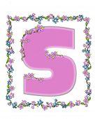 Alphabet Daisy Fair Pink S