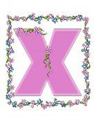 Alphabet Daisy Fair Pink X