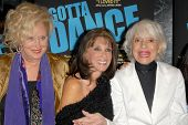 Sally Kirkland with Kate Linder and Carol Channing at the Los Angeles Premiere of 'Gotta Dance'. Lin