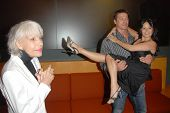 Carol Channing with Roland Kickinger and Romi Dames at the Los Angeles Premiere of 'Gotta Dance'. Li