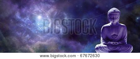 Image of Buddha Lotus Position Deep Space Background