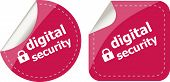 Digital Security Stickers Label Tag Set
