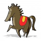 cartoon prancing horse