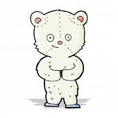 cartoon teddy polar bear cub