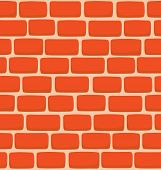 Seamless Texture Of A Cartoon Brick Wall