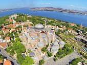 Hagia Sophia from air