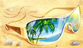 Sanglasses on the sand