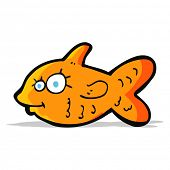 cartoon happy goldfish