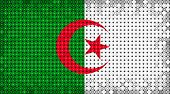 Flag Of Algeria Lighting On Led Display