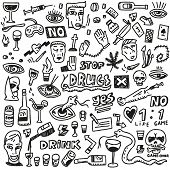 drugs - doodles set