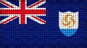 Flag Of Anguilla Lighting On Led Display