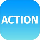 Action Blue Icon
