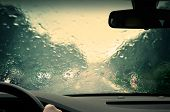 Bad weather driving - completely defocused