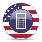 calculator american icon