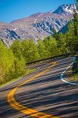 Curved Colorado Mountain Road