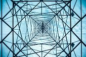 Electricity Pylon Structure Closeup