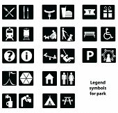 pic of cartographer  - Cartographic symbols in the park - JPG
