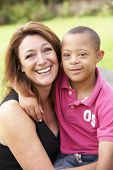 Mother with Downs Syndrome son