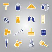 paint stickers set eps10