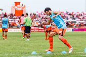 Sisaket Thailand-june 29: Victor Amaro Of Sisaket Fc. In Action During A Training Ahead Thai Premier