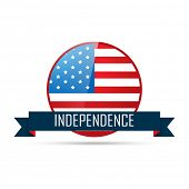 4th of july independence badge