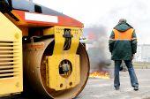 Fire Extinguishing By Asphalt Road Roller Compactor