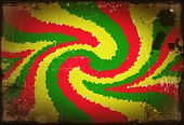 Red, Yellow, Green Rasta Flag