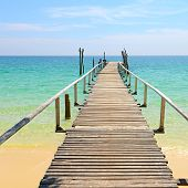 Wooden Jetty On The Sea