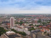 stock photo of leipzig  - Aerial view of the city of Leipzig in Germany - JPG