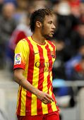 BARCELONA - MARCH, 29: Neymar da Silva of FC Barcelona in action during a Spanish League match again