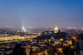 Turin (torino), Night Panorama