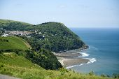 Lynmouth From Countisbury Hill, Exmoor