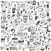 Politics - doodles set