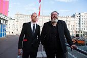 MOSCOW - JUNE, 19:Actor Kristian Nairn (Hodor, Game of Trones)and actor Y. Kolokolnikov, 36th Moscow
