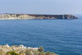 Coastline Of Fortaleza De Sagres In Portugal