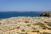 Cliffs In Sagres, Algarve, Portugal