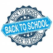 Back To School Grungy Stamp Isolated On White Background