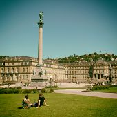 The Schlossplatz City Square in Stuttgart, Germany.