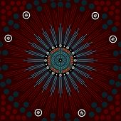 A Illustration Based On Aboriginal Style Of Dot Painting Depicting Genesis
